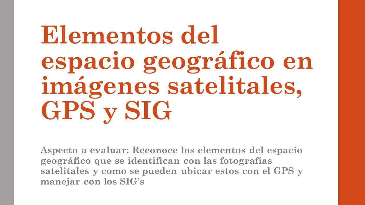 Imgenes satelitales Sistema de Posicionamiento Global GPS y