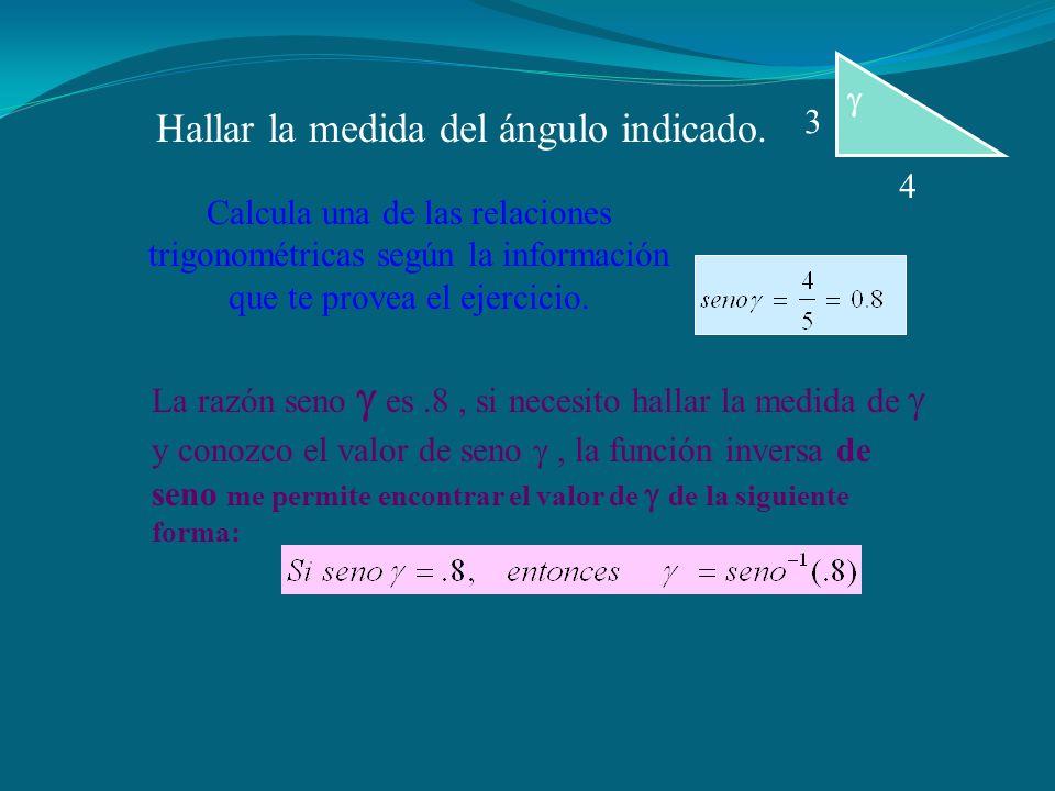  4 3 Hallar la medida del ángulo indicado.