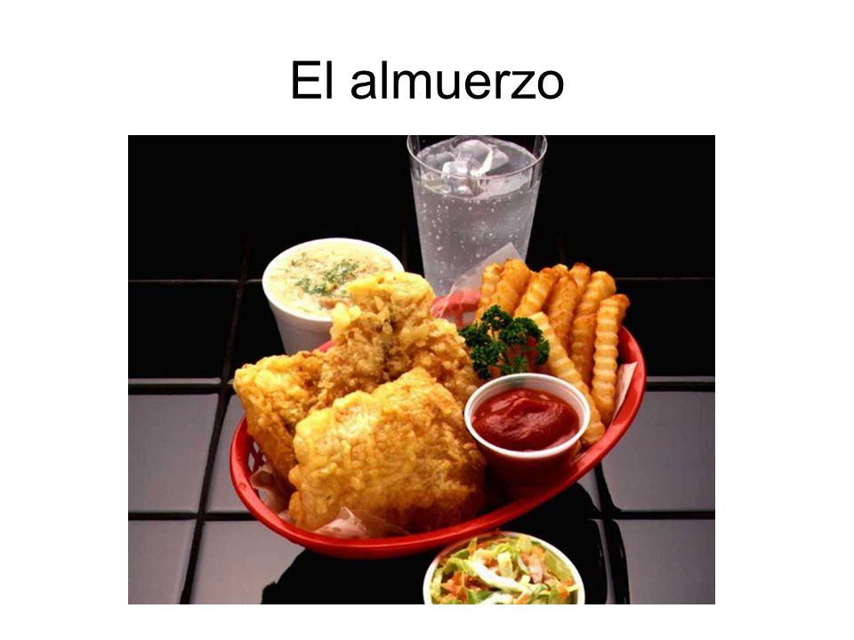 El pollo Las papas fritas El refresco La ensalada