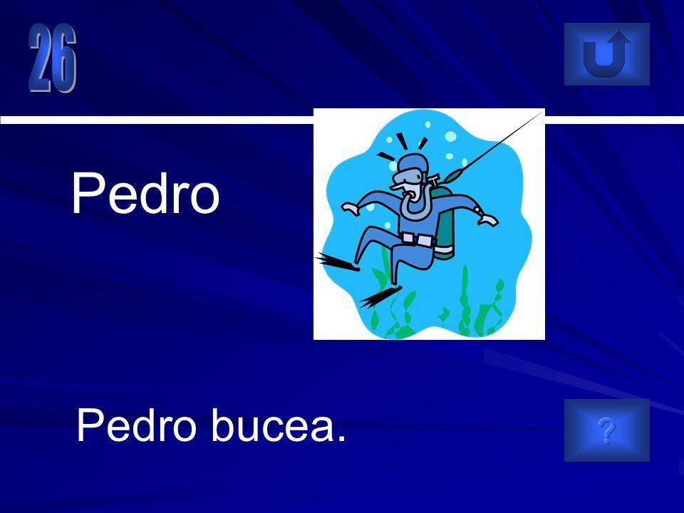 Pedro bucea. Pedro