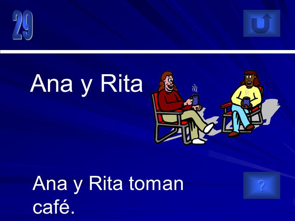 Ana y Rita toman café. Ana y Rita