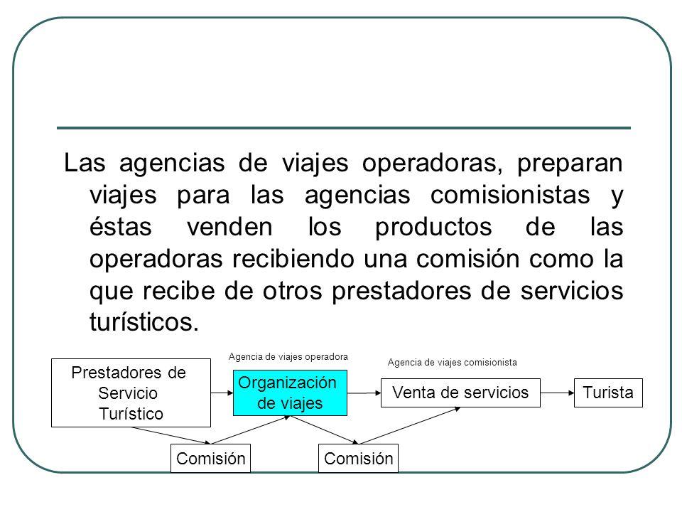 La venta en las agencias operadoras tienen los siguientes aspectos básicos: 1.