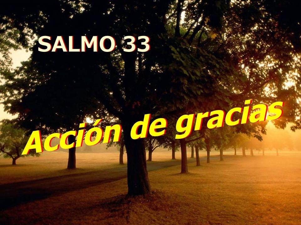 SALMO 33 Acción de gracias