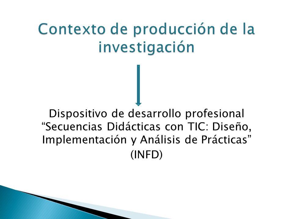 Dispositivo de desarrollo profesional Secuencias Didácticas con TIC: Diseño, Implementación y Análisis de Prácticas (INFD)
