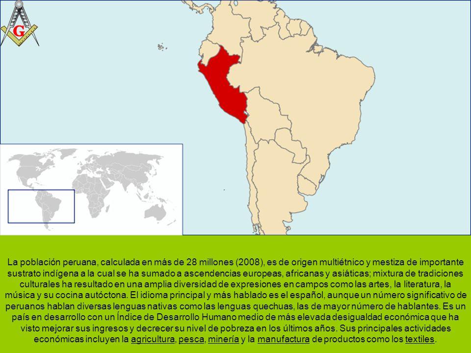 El Perú (quechua: Piruw, aimara: Piruw), oficialmente la República del Perú, es un país situado en el lado occidental de Sudamérica.