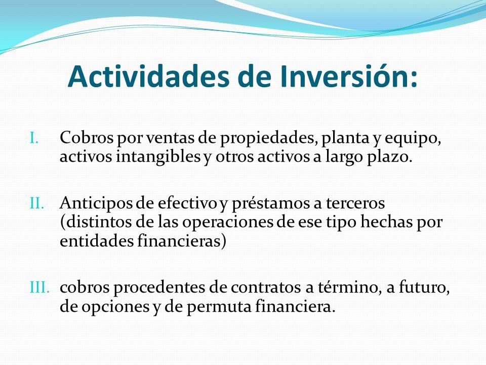 Actividades de Inversión: I.