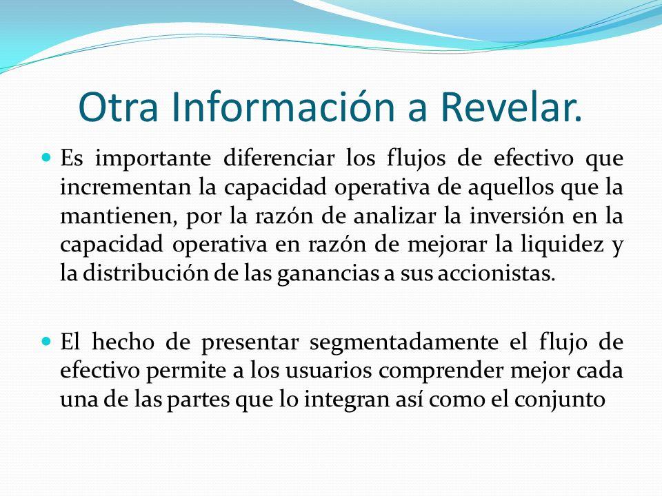 Otra Información a Revelar.