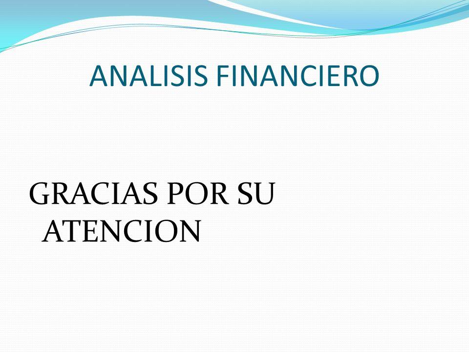 ANALISIS FINANCIERO GRACIAS POR SU ATENCION