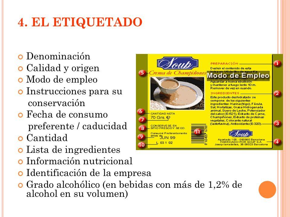 Aditivos alimentarios: sustancias que se añaden a los alimentos para mejorar su conservación o modificar sus características.