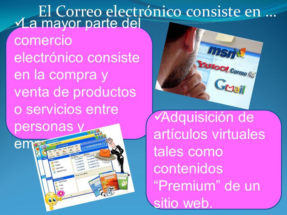 La mayor parte del comercio electrónico consiste en la compra y venta de productos o servicios entre personas y empresas. Adquisición de artículos vir