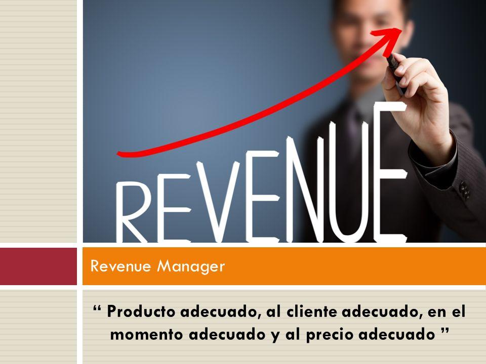""""""" Producto adecuado, al cliente adecuado, en el momento adecuado y al precio adecuado """" Revenue Manager"""