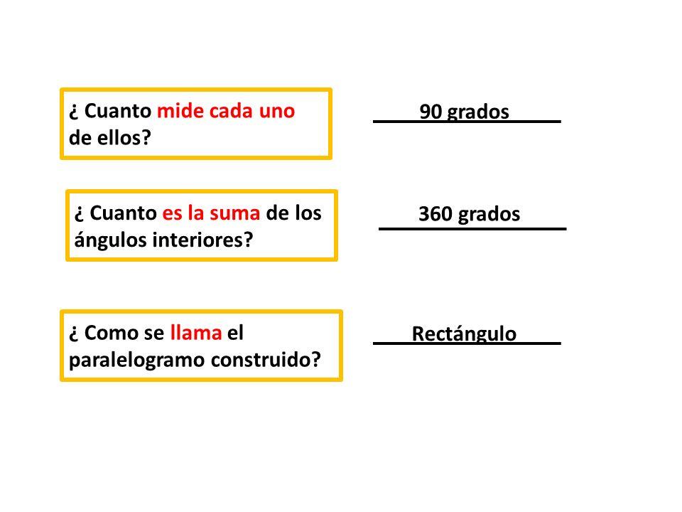 ¿Qué propiedades tienen las diagonales de un rectángulo.