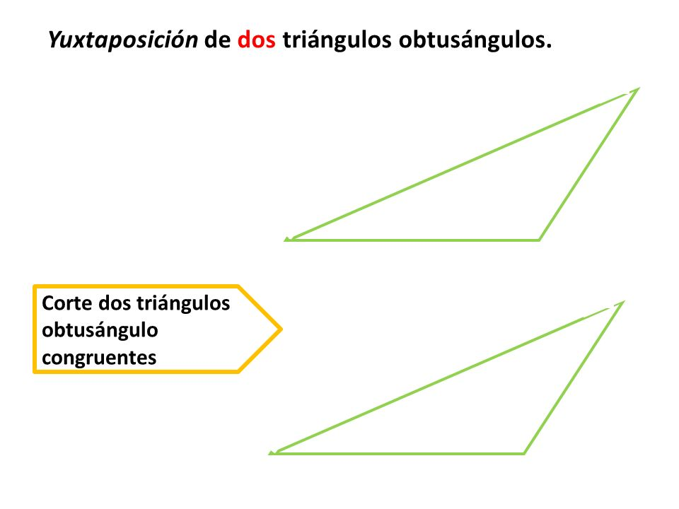 Yuxtaponga los lados del lado mayor de cada triángulo A B C D