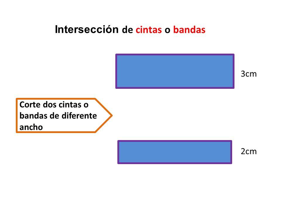Superpone las dos bandas con un ángulo distinto a 90 grado Los cuatro puntos de intersección son los vértices A B C D
