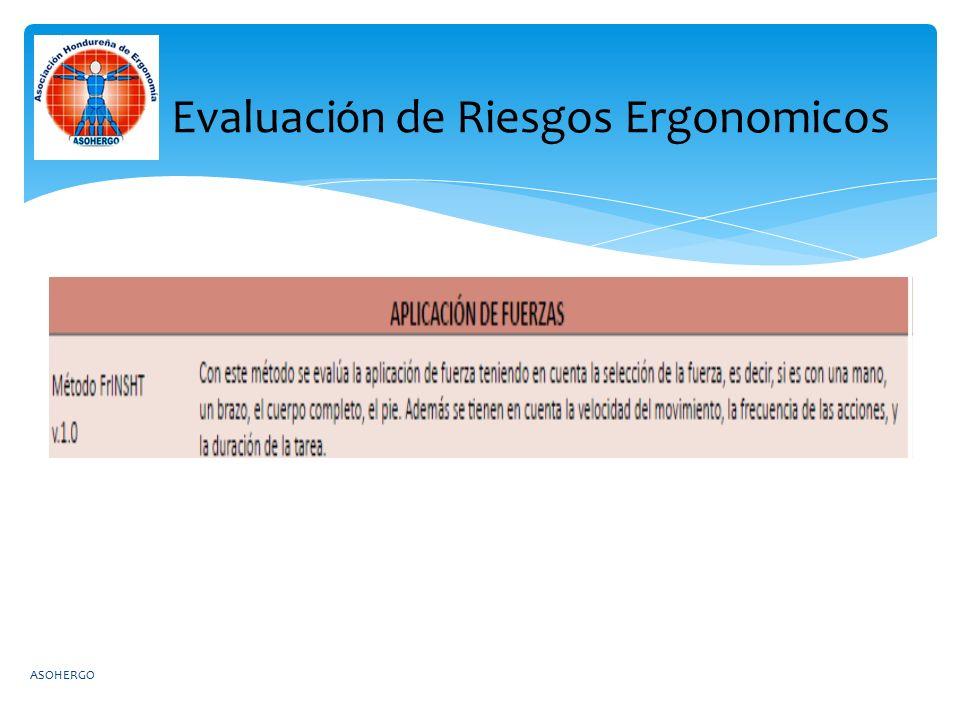 Evaluaci ó n de Riesgos Ergonomicos ASOHERGO
