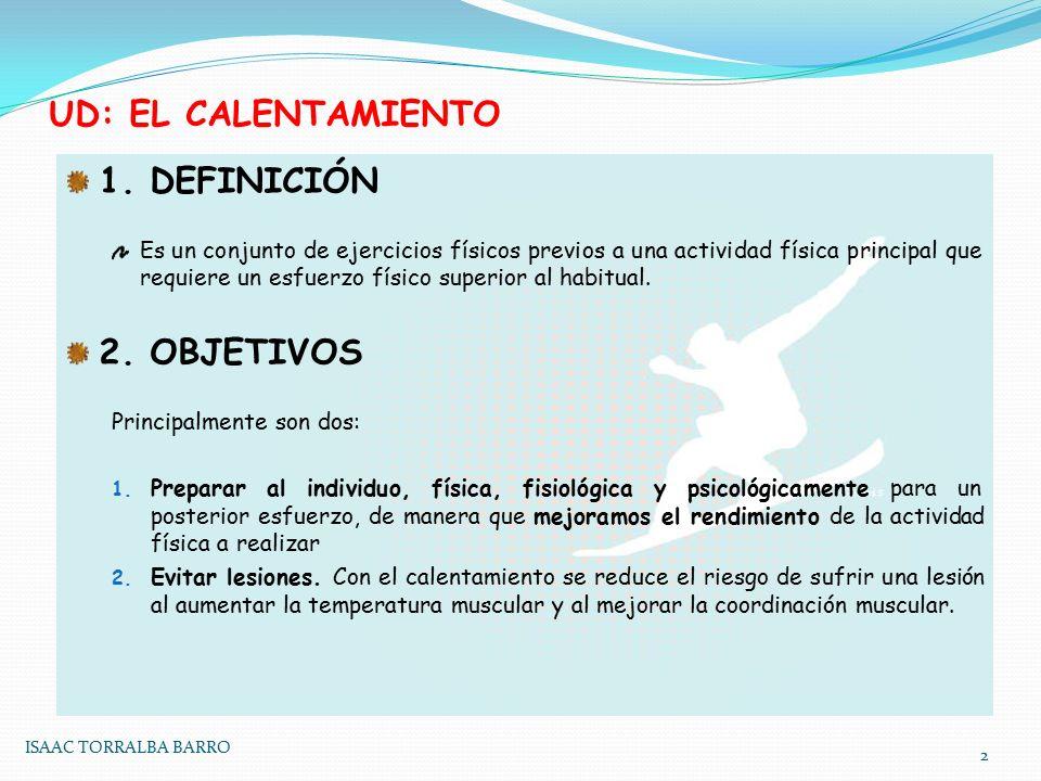 UD: EL CALENTAMIENTO 1.