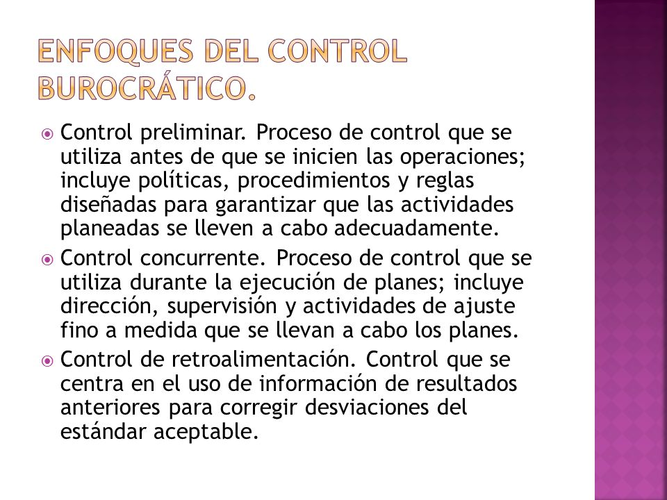 Evaluación de la eficacia y eficiencia de diversos sistemas dentro de la organización.