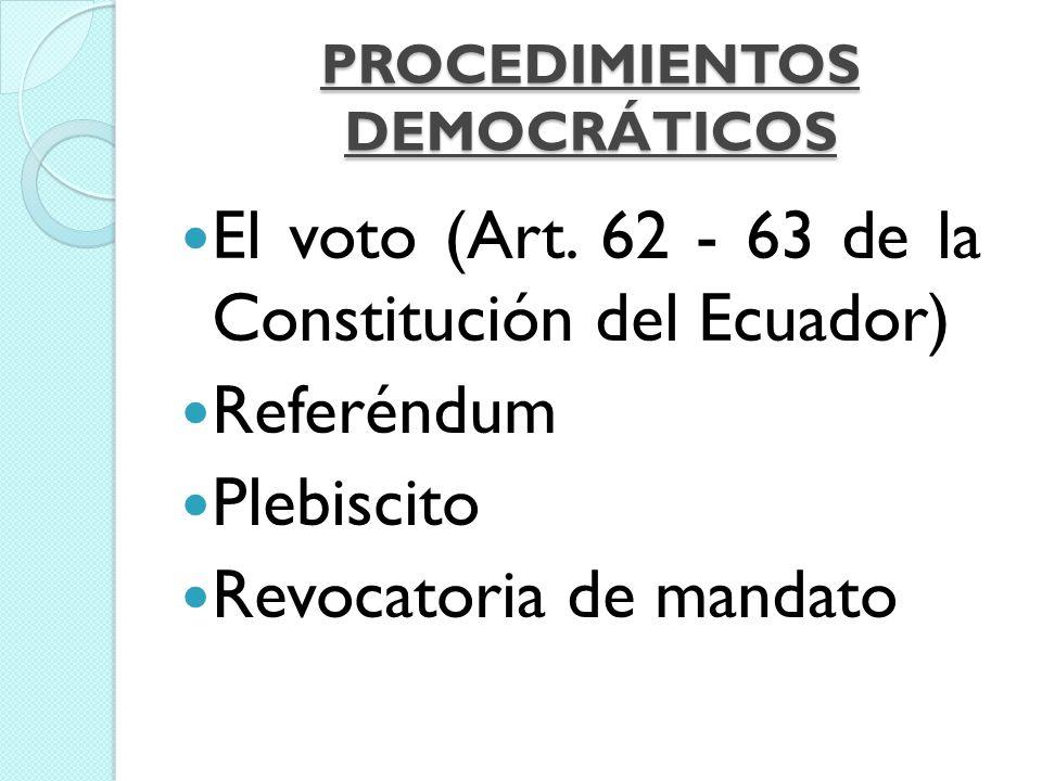 EL VOTO Es el acto por el cual un individuo expresa apoyo o preferencia por cierta moción, propuesta, candidato o selección de candidato durante una votación, de forma secreta o pública.