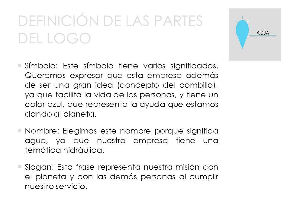 DEFINICIÓN DE LAS PARTES DEL LOGO  Símbolo: Este símbolo tiene varios significados.
