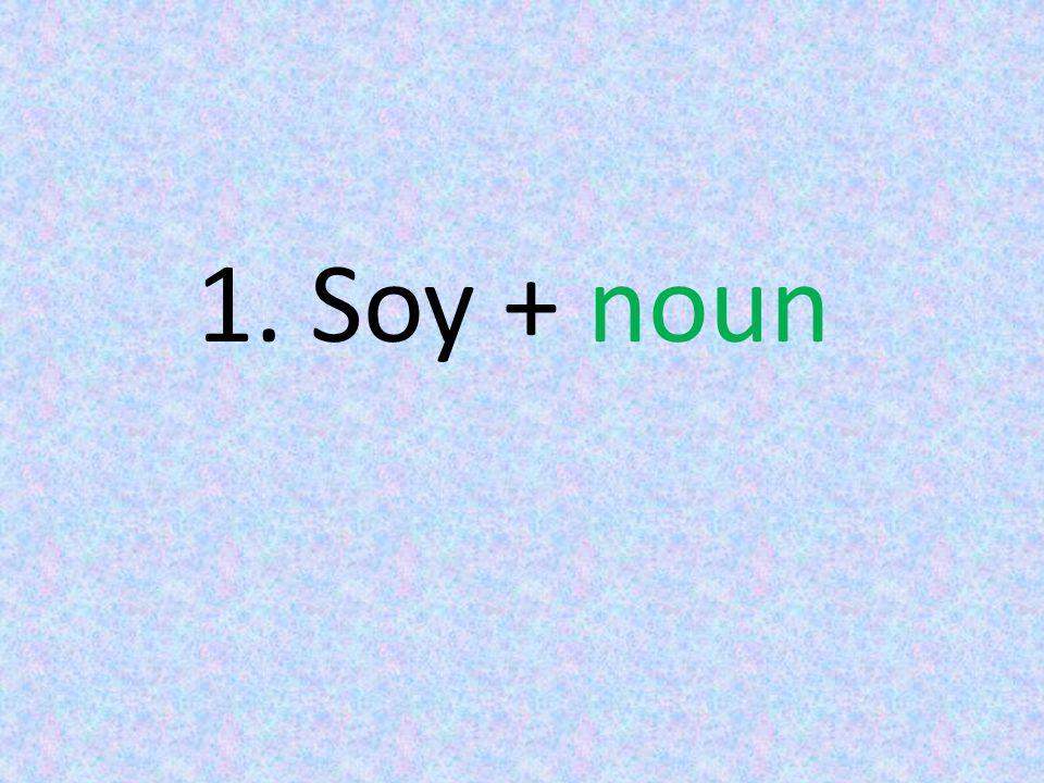 1. Soy + noun
