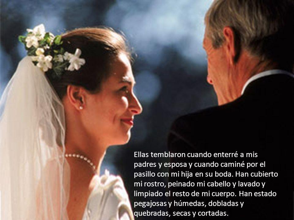 Decoradas con mi anillo de bodas, le mostraron al mundo que estaba casado y que amaba a alguien muy especial.
