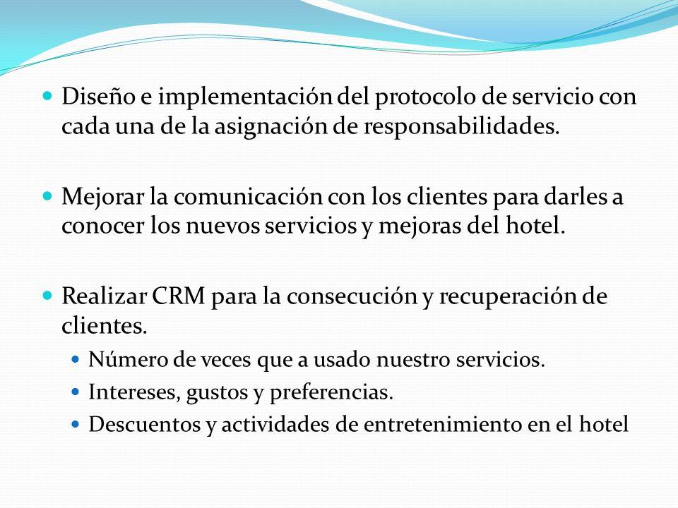 Diseño e implementación del protocolo de servicio con cada una de la asignación de responsabilidades.