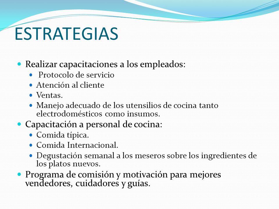 Realizar capacitaciones a los empleados: Protocolo de servicio Atención al cliente Ventas.