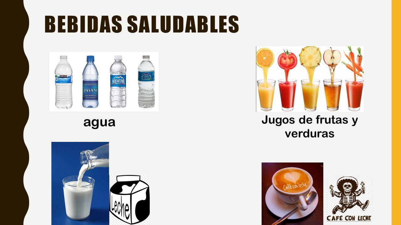 BEBIDAS SALUDABLES agua Jugos de frutas y verduras