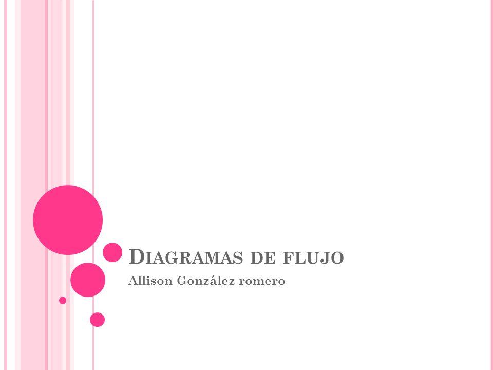 D IAGRAMAS DE FLUJO Allison González romero