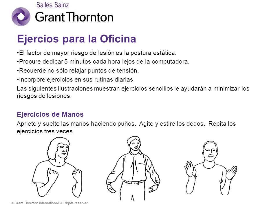 © Grant Thornton International. All rights reserved. Ejercicios de espalda y hombros