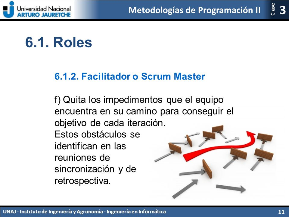 Metodologías de Programación II UNAJ - Instituto de Ingeniería y Agronomía - Ingeniería en Informática 11 3 Clase 6.1.