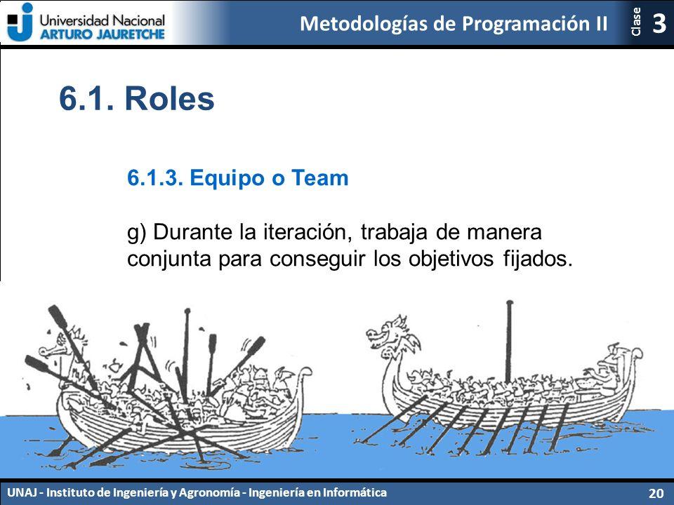 Metodologías de Programación II UNAJ - Instituto de Ingeniería y Agronomía - Ingeniería en Informática 20 3 Clase 6.1.