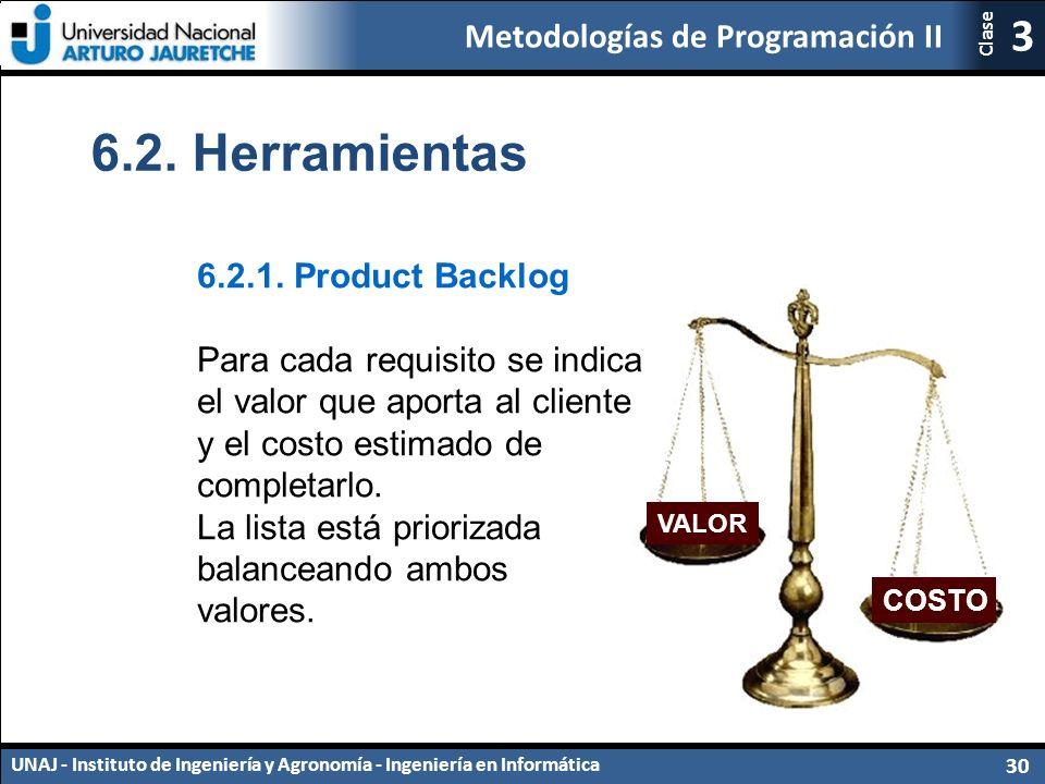 Metodologías de Programación II UNAJ - Instituto de Ingeniería y Agronomía - Ingeniería en Informática 30 3 Clase 6.2.