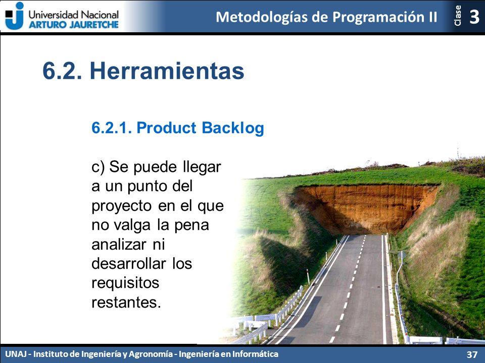 Metodologías de Programación II UNAJ - Instituto de Ingeniería y Agronomía - Ingeniería en Informática 37 3 Clase 6.2.