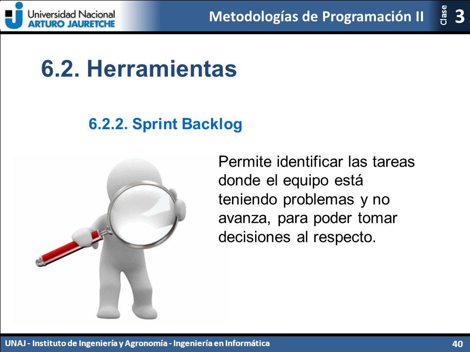 Metodologías de Programación II UNAJ - Instituto de Ingeniería y Agronomía - Ingeniería en Informática 40 3 Clase 6.2.