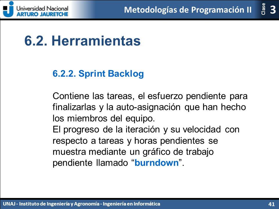 Metodologías de Programación II UNAJ - Instituto de Ingeniería y Agronomía - Ingeniería en Informática 41 3 Clase 6.2.