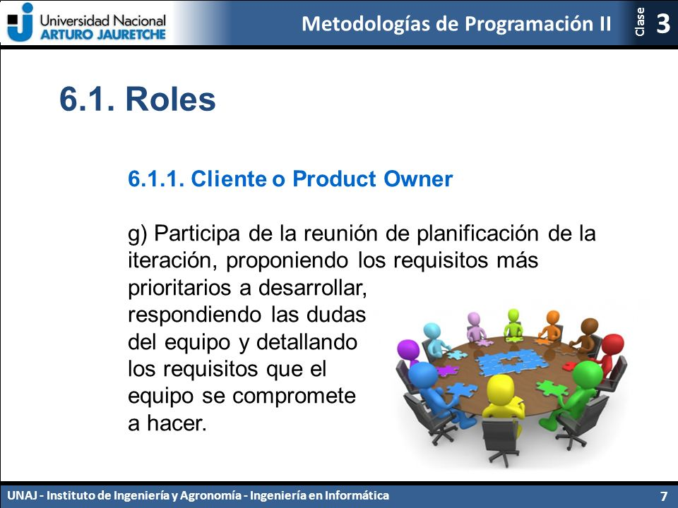 Metodologías de Programación II UNAJ - Instituto de Ingeniería y Agronomía - Ingeniería en Informática 7 3 Clase 6.1.