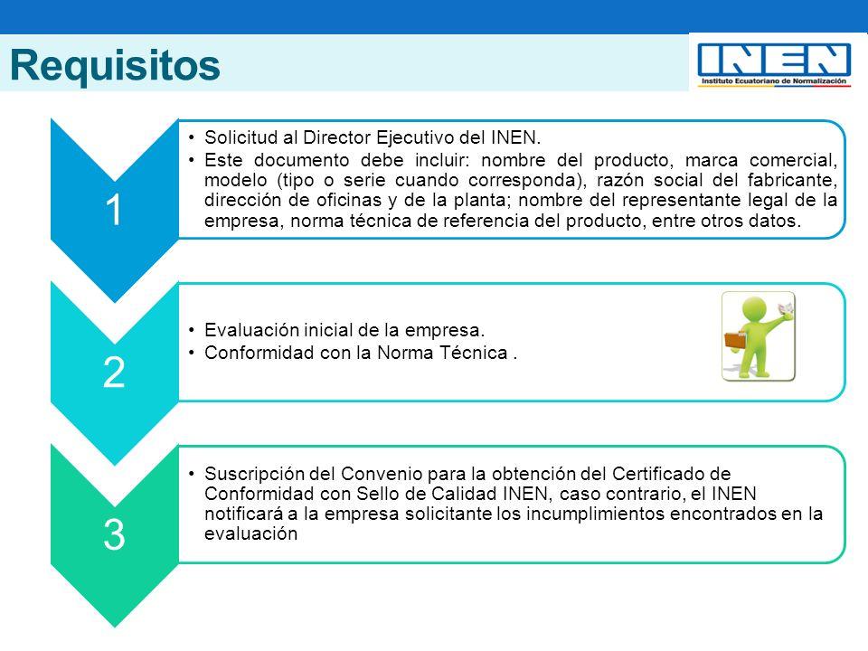 Requisitos 1 Solicitud al Director Ejecutivo del INEN.
