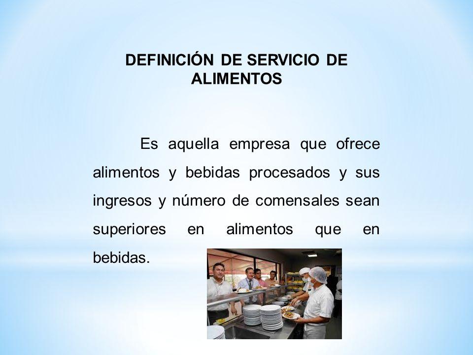 1.Servicio de alimentos en hospitales y clínicas privadas.