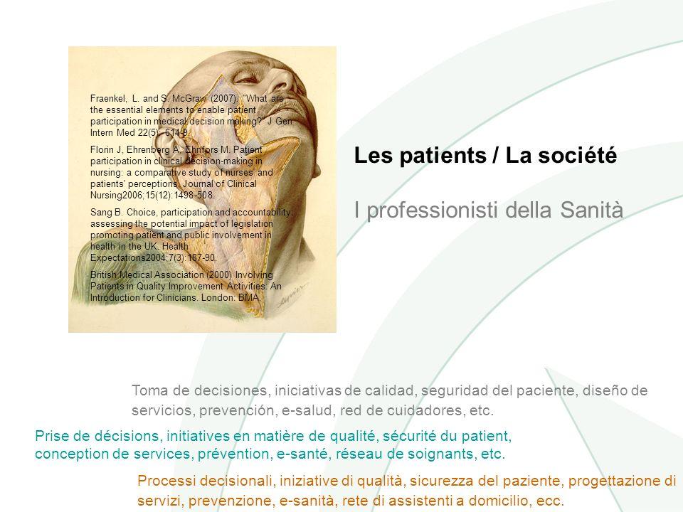 Les patients / La société I professionisti della Sanità Fraenkel, L.