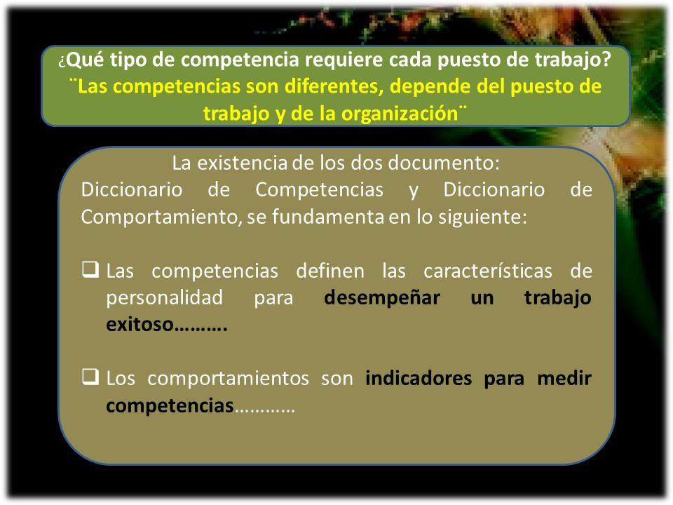 ¿ Qué tipo de competencia requiere cada puesto de trabajo? ¨Las competencias son diferentes, depende del puesto de trabajo y de la organización¨ La ex