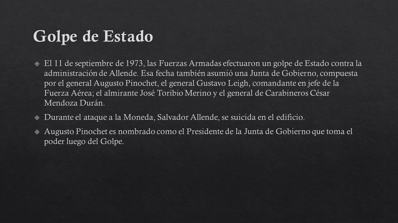 Junta de Gobierno Augusto Pinochet Líder de la junta