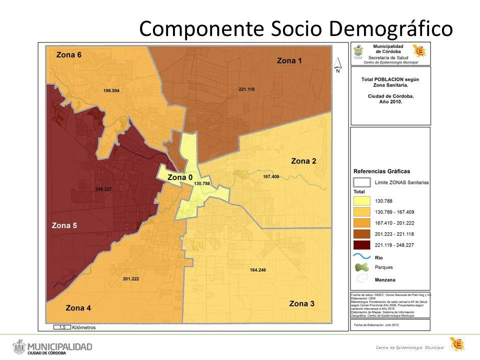ZONA Área Programática (AP) Nombre del AP Centros de Salud localizados en el AP PoblaciónVarónMujerIM 114General Bustos1435.16516.37118.79687,10 119Sargento Cabral19, 25 (San Martín)34.06416.21417.85190,83 118San Jorge18, U10, U2229.18314.23514.94795,24 117Villa Azalais Oeste17, U1427.87413.41514.45992,78 101General Mosconi01, U3226.78813.36313.42299,56 148Villa Azalais Este4818.1038.6529.45191,54 113H.