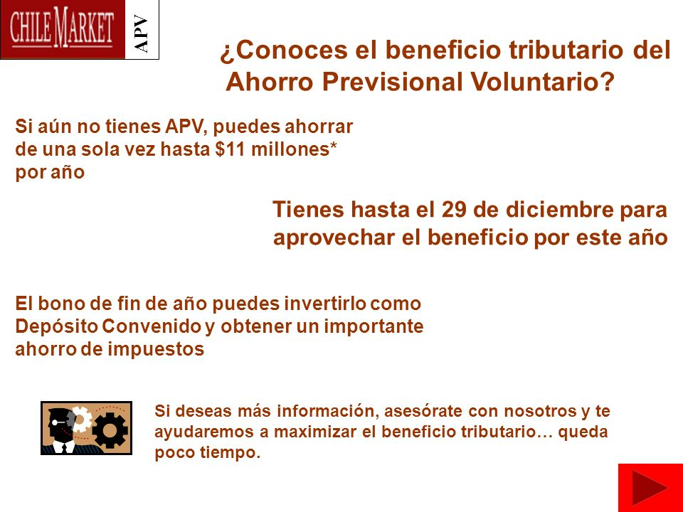 APV ¿Conoces el beneficio tributario del Ahorro Previsional Voluntario.