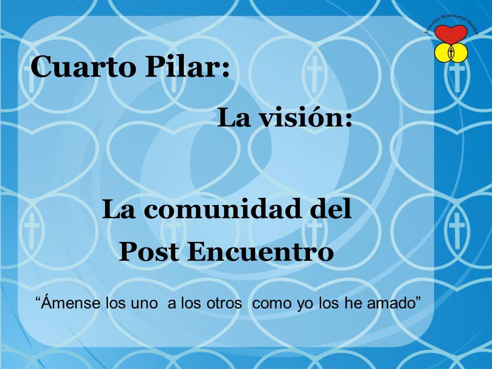 Cuarto Pilar: La visión: La comunidad del Post Encuentro Ámense los uno a los otros como yo los he amado