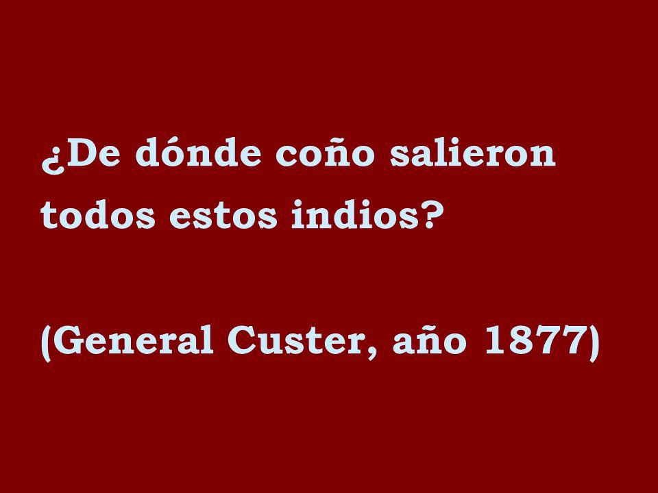 ¿De dónde coño salieron todos estos indios? (General Custer, año 1877)