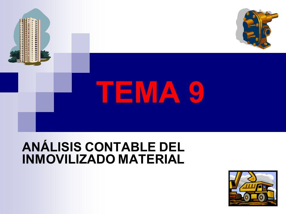 TEMA 9 ANÁLISIS CONTABLE DEL INMOVILIZADO MATERIAL