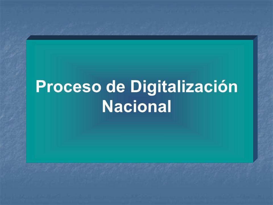 Proceso de Digitalización Nacional