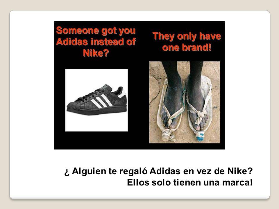 ¿ Alguien te regaló Adidas en vez de Nike? Ellos solo tienen una marca!