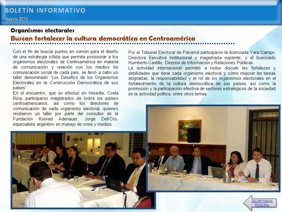 Por el Tribunal Electoral de Panamá participaron la licenciada Yara Campo, Directora Ejecutiva Institucional y magistrada suplente, y el licenciado Humberto Castillo, Director de Información y Relaciones Públicas.